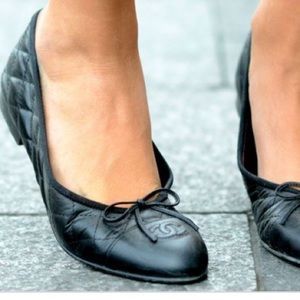 Chanel Quilted Ballet Flats